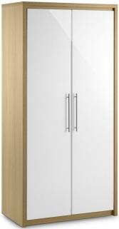 Julian Bowen Stockholm White Wardrobe - All Hanging 2 Doors