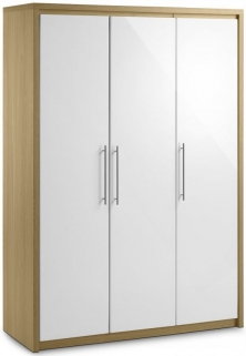 Julian Bowen Stockholm White Wardrobe - All Hanging 3 Doors