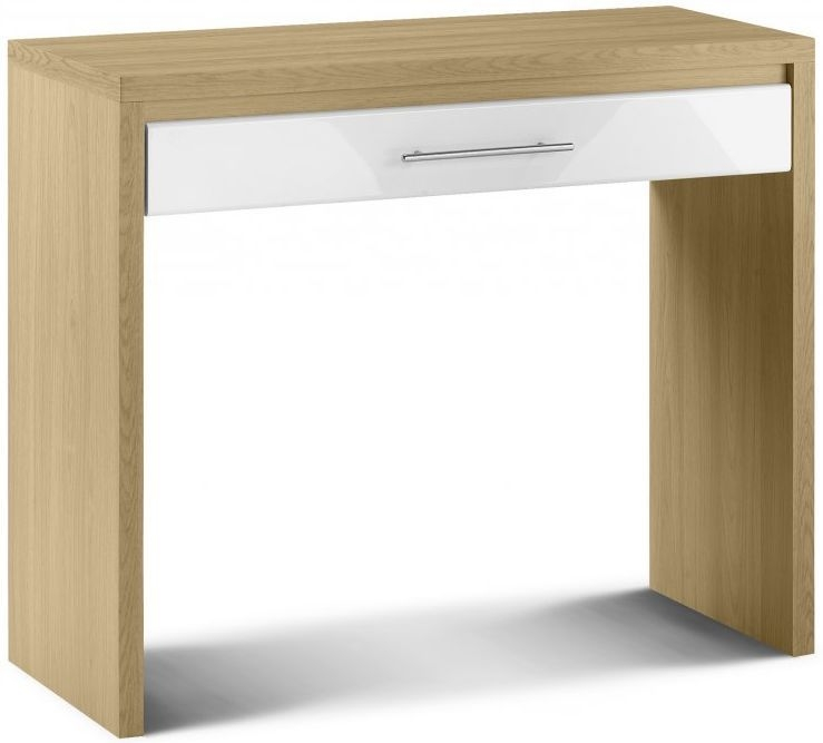 Julian Bowen Stockholm White Dressing Table - 1 Drawer