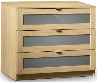 Julian Bowen Strada Light Oak Chest of Drawer - 3 Drawers