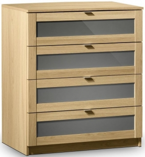Julian Bowen Strada Light Oak Chest of Drawer - 4 Drawers