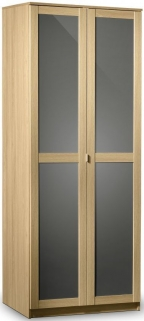 Julian Bowen Strada Light Oak Wardrobe - 2 Doors