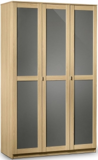 Julian Bowen Strada Light Oak Wardrobe - 3 Doors