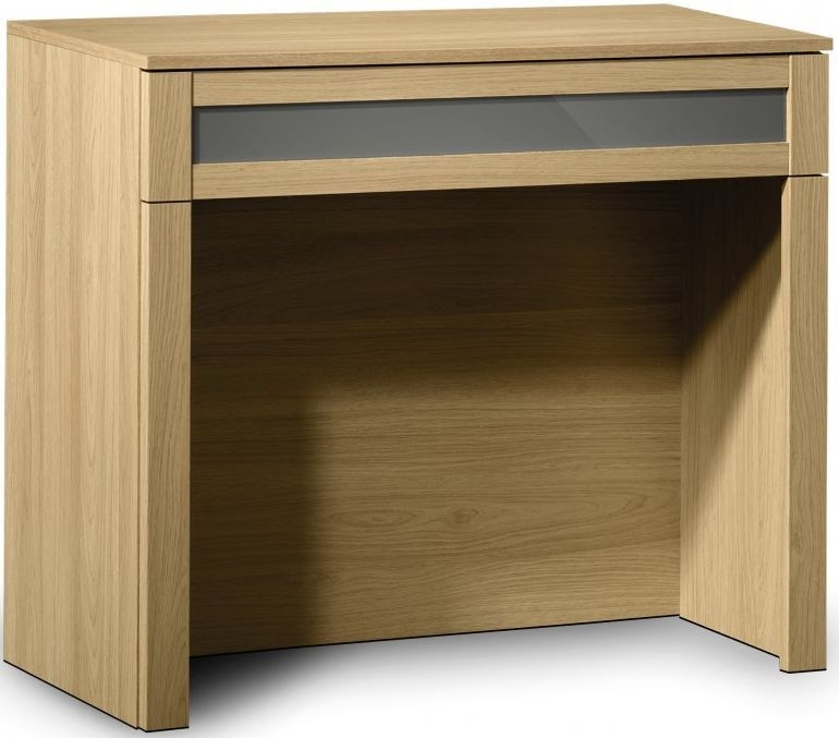 Julian Bowen Strada Light Oak Dressing Table - 1 Drawer