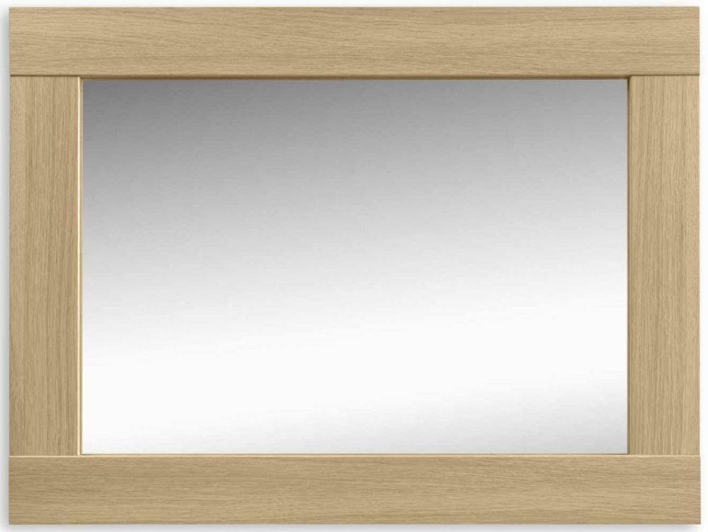 Julian Bowen Strada Light Oak Wall Mirror