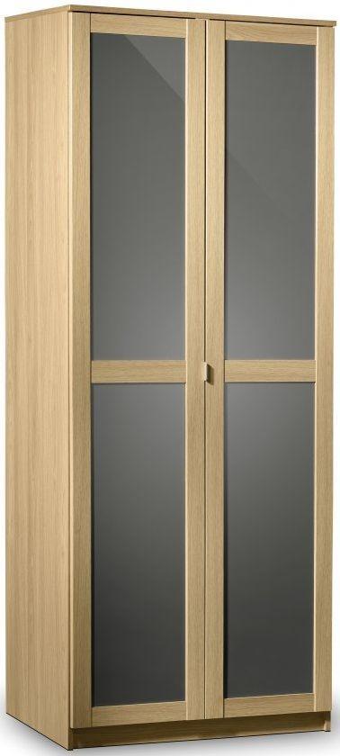 Julian Bowen Strada Light Oak Wardrobe - 2 Doors