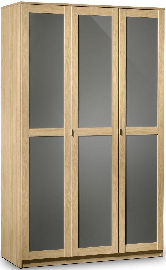 Julian Bowen Strada Light Oak Wardrobe - 3 Doors