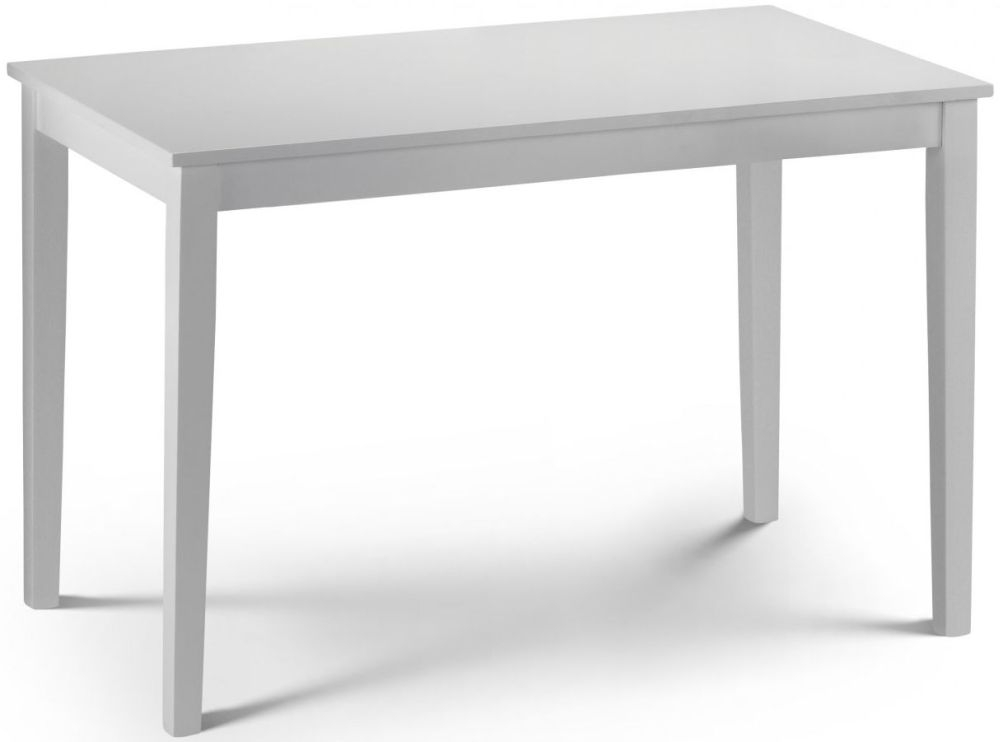 Julian Bowen Taku White Lacquered Dining Table