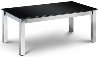 Julian Bowen Tempo Coffee Table - Black Glass