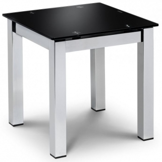 Julian Bowen Tempo Lamp Table - Black Glass