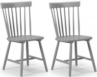 Julian Bowen Torino Lunar Grey Dining Chair (Pair)