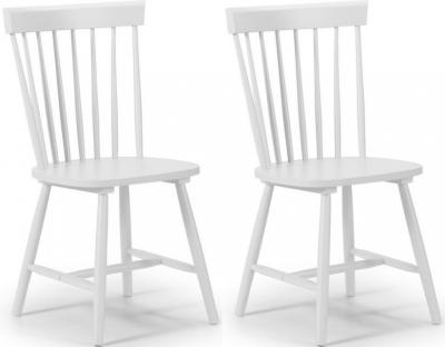 Julian Bowen Torino Lunar White Dining Chair (Pair)