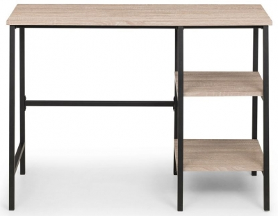 Julian Bowen Tribeca Sonoma Oak and Black Desk