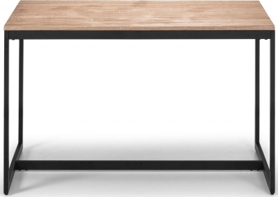 Julian Bowen Tribeca Sonoma Oak and Black Metal Dining Table