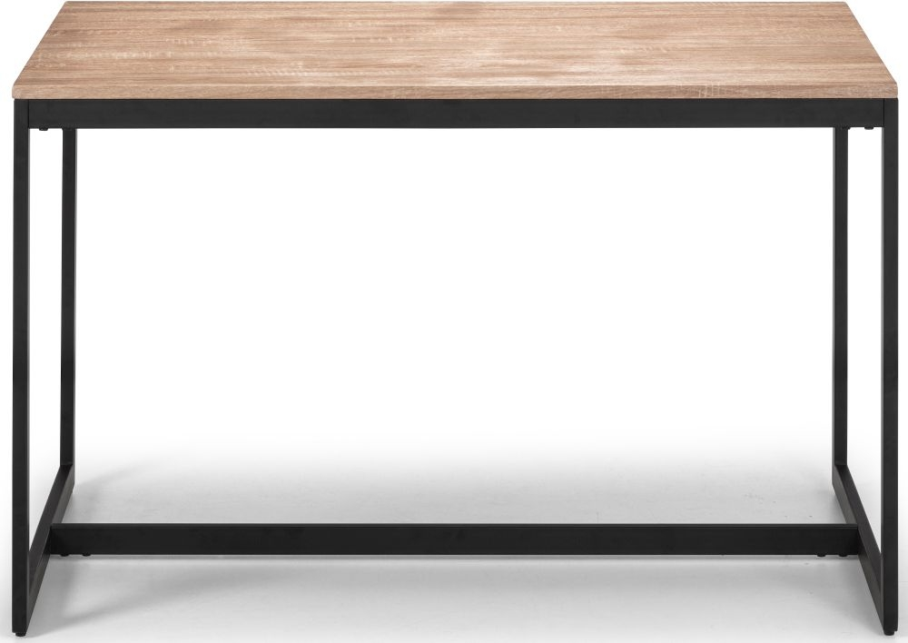 Julian Bowen Tribeca Dining Table - Sonoma Oak and Black Metal