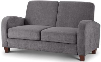 Julian Bowen Vivo Dusk Grey Chenille Fabric 2 Seater Sofa