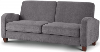 Julian Bowen Vivo Dusk Grey Chenille Fabric 3 Seater Sofa