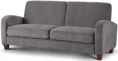 Julian Bowen Vivo Dusk Grey Chenille Fabric 3 Seater Sofa