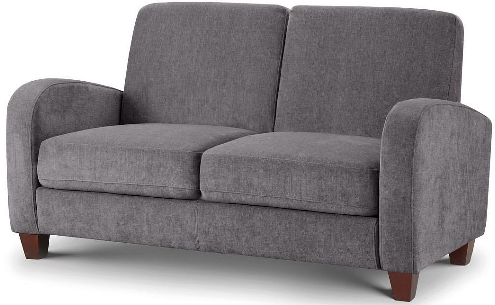 Julian Bowen Vivo Dusk Grey Chenille Fabric 2 Seater Sofa