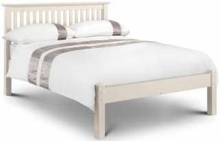 Julian Bowen Barcelona Stone White Bed - Low Foot End