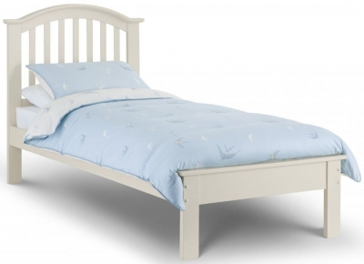 Julian Bowen Olivia Stone White Bed - 3ft Single