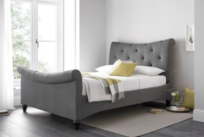 Kaydian Tyne Artemis Fabric Bed - Elephant Grey