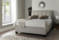 Kaydian Accent Fabric Ottoman Storage Bed - Oatmeal