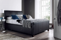 Kaydian Allendale Leather Ottoman Storage Bed - Black