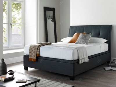Kaydian Accent Fabric Ottoman Storage Bed - Slate
