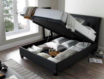 Kaydian Accent Ottoman Storage Bed - Slate Fabric