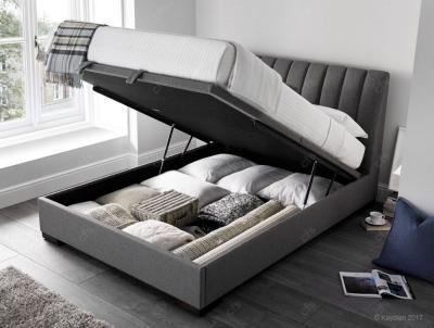 Kaydian Lanchester Ottoman Storage Bed - Artemis Elephant Grey Fabric