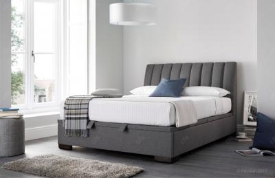 Kaydian Lanchester Fabric Ottoman Storage Bed  - Artemis Elephant Grey
