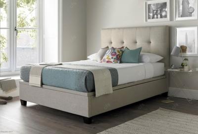 Kaydian Walkworth Fabric Ottoman Storage Bed - Oatmeal