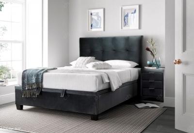 Kaydian Walkworth Fabric Ottoman Storage Bed - Velvet Cliffe
