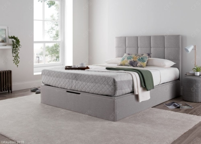 Kaydian Whitburn Ottoman Storage Bed - Silver Fabric