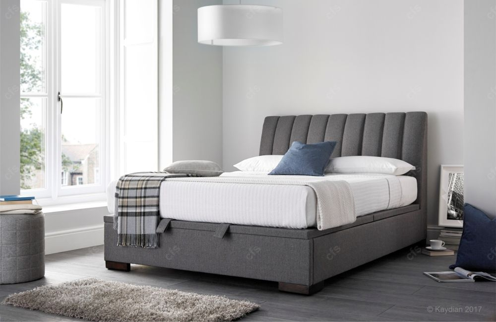 Kaydian Lanchester Fabric Ottoman Storage Bed  - Artemis Elephant Grey