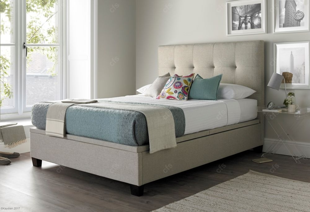 Kaydian Walkworth Fabric Ottoman Storage Bed - Oatmeal