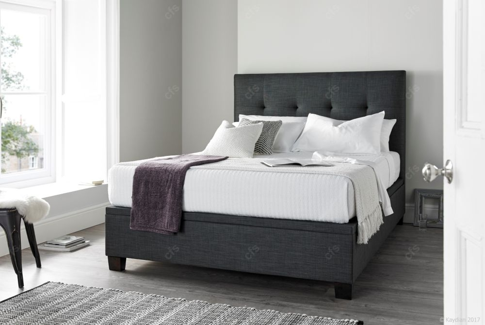 Kaydian Walkworth Fabric Ottoman Storage Bed - Slate