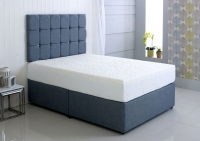 Kayflex Hybrid Cool Blue 17.5cm Reflex Memory Foam Ottoman Divan Bed