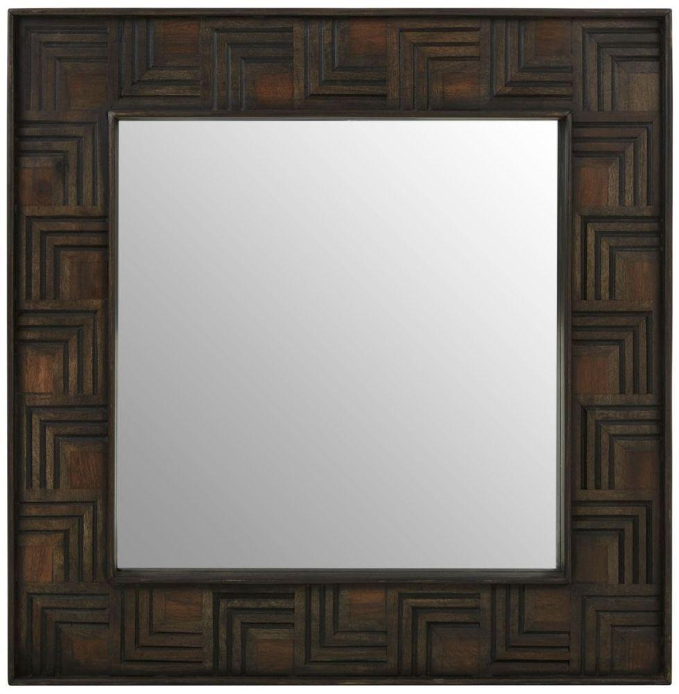 Altos Mango Wood Square Wall Mirror