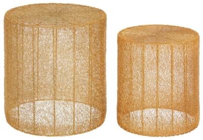 Barnet Gold Side Tables (Set of 2)