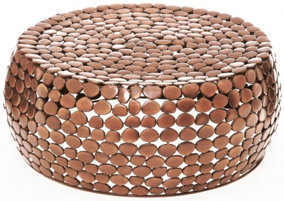 Barnet Copper Pebble Effect Coffee Table