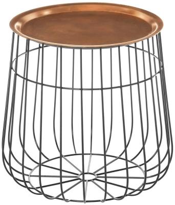Barnet Copper Tray Table
