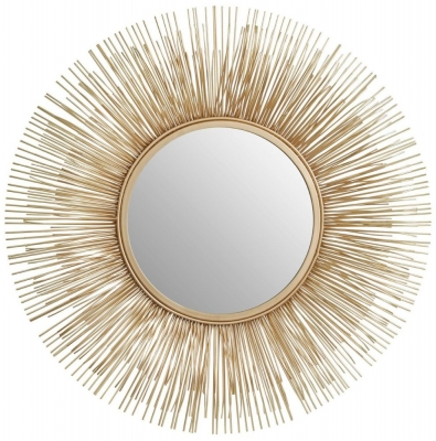 Barnet Gold Rods Wall Mirror