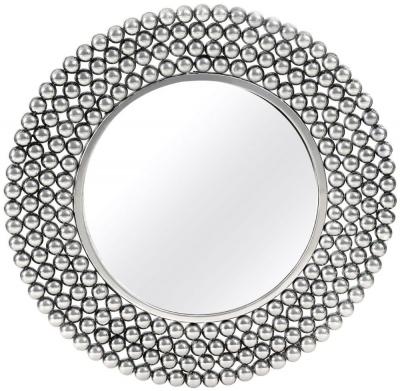 Barnet Silver Beaded Wall Mirror