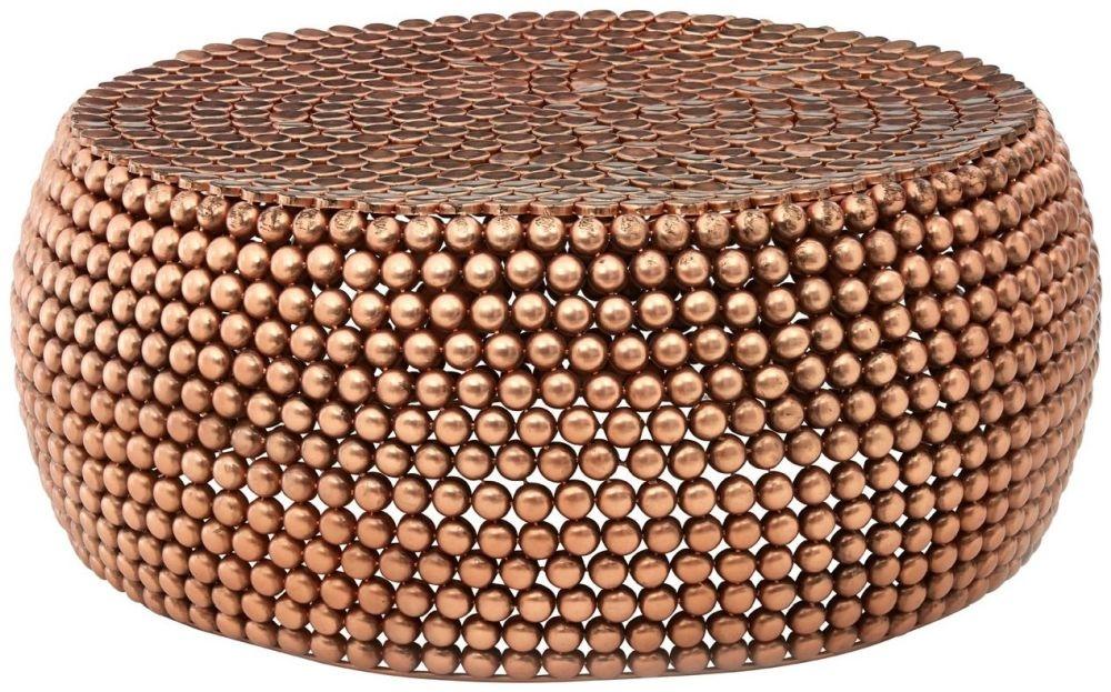 Barnet Copper Beaded Coffee Table
