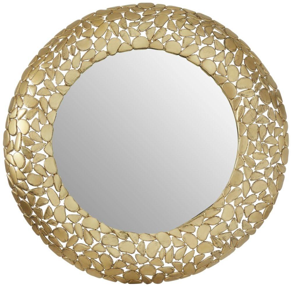 Barnet Pebble Effect Round Wall Mirror