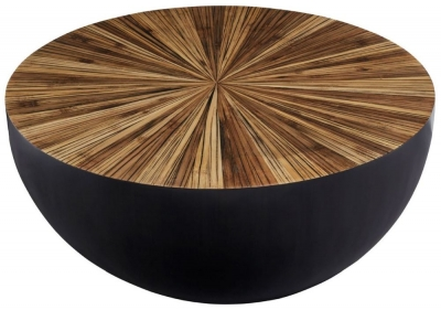 Beacons Natural Hevea Small Round Coffee Table