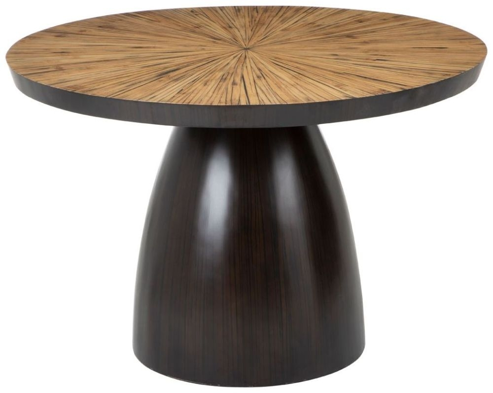 Beacons Natural Hevea Round Dining Table