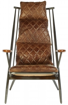 Bexley Genuine Brown Leather Chair